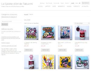 Ouverture galerie d'art officielle en ligne de Jérémy Taburchi