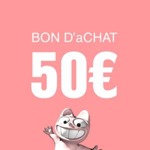 Bon d'achat de 50€ à valoir sur la boutique.