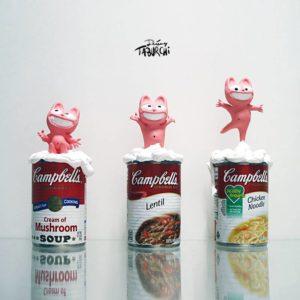 Les Campbells'Soup de Warhol version Taburchi
