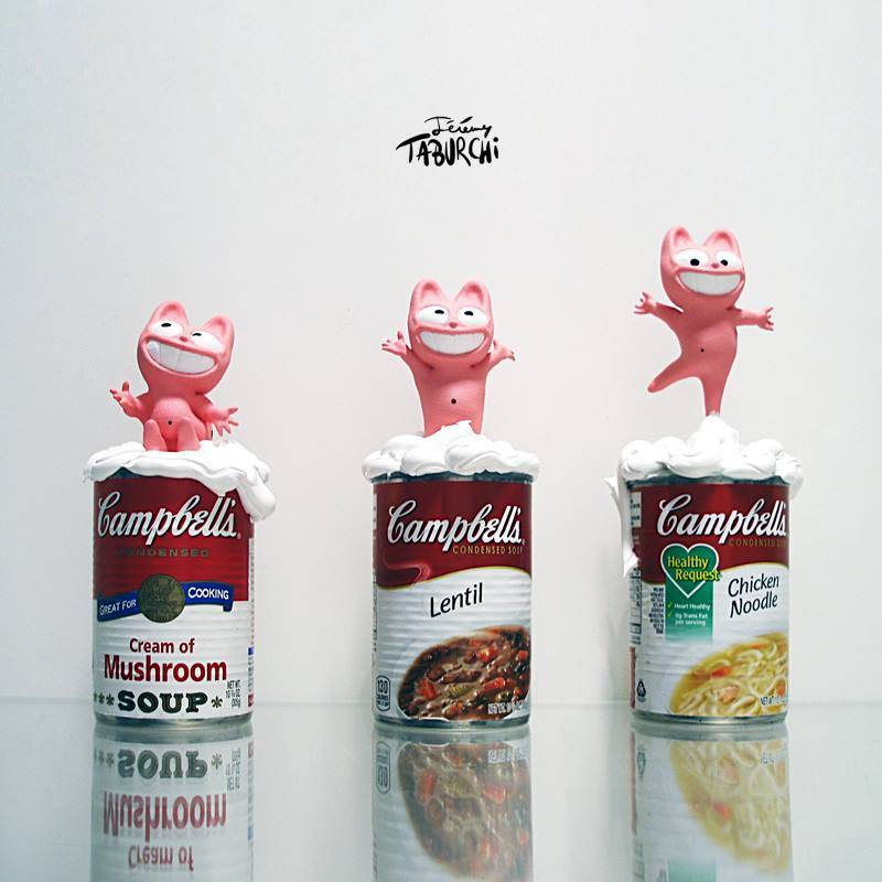 Les Campbells'Soup de Warhol version Taburchi
