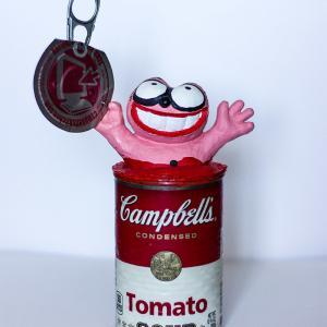 "Campbell's Soup ""Chat Rose"" de Taburchi"