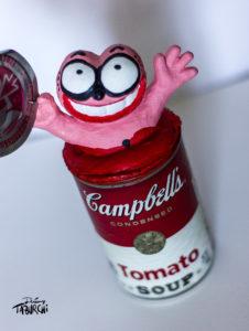 "Campbell's Soup ""Chat Rose"" de Taburchi"