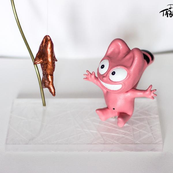 Le Chat Rose à la pêche par Jérémy Taburchi
