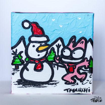 Chat Rose à la neige de Taburchi