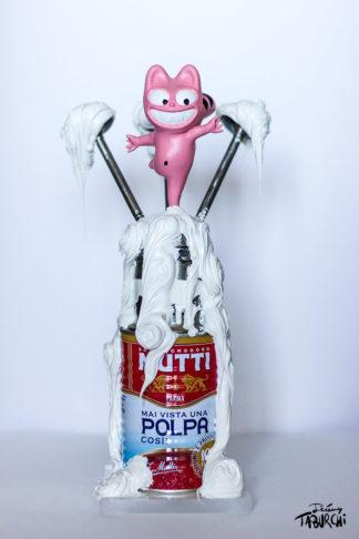 """Sculpture """"Pink Cat Mutti / Polpa"""""""