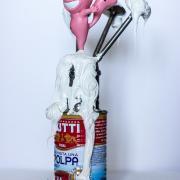 "Sculpture ""Chat Rose Mutti / Polpa"" de Jérémy Taburchi"
