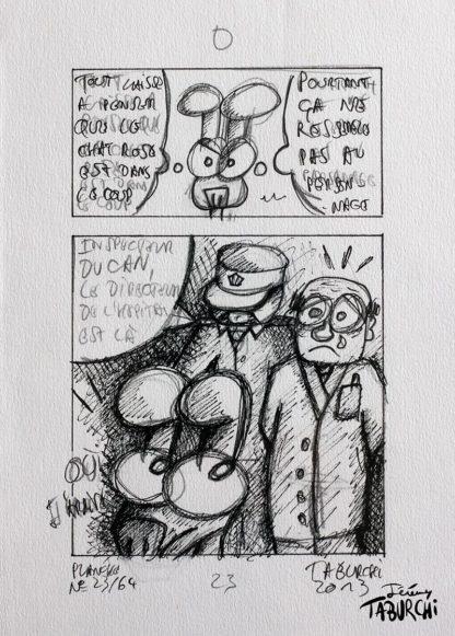 """planche originale de la bd """"Dr Chat Rose et Mister Strange"""""""
