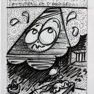 planche originale de BD du Chat Rose de Taburchi