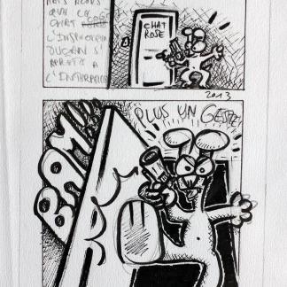 Planche originale d'étude de la bande dessinée N°36