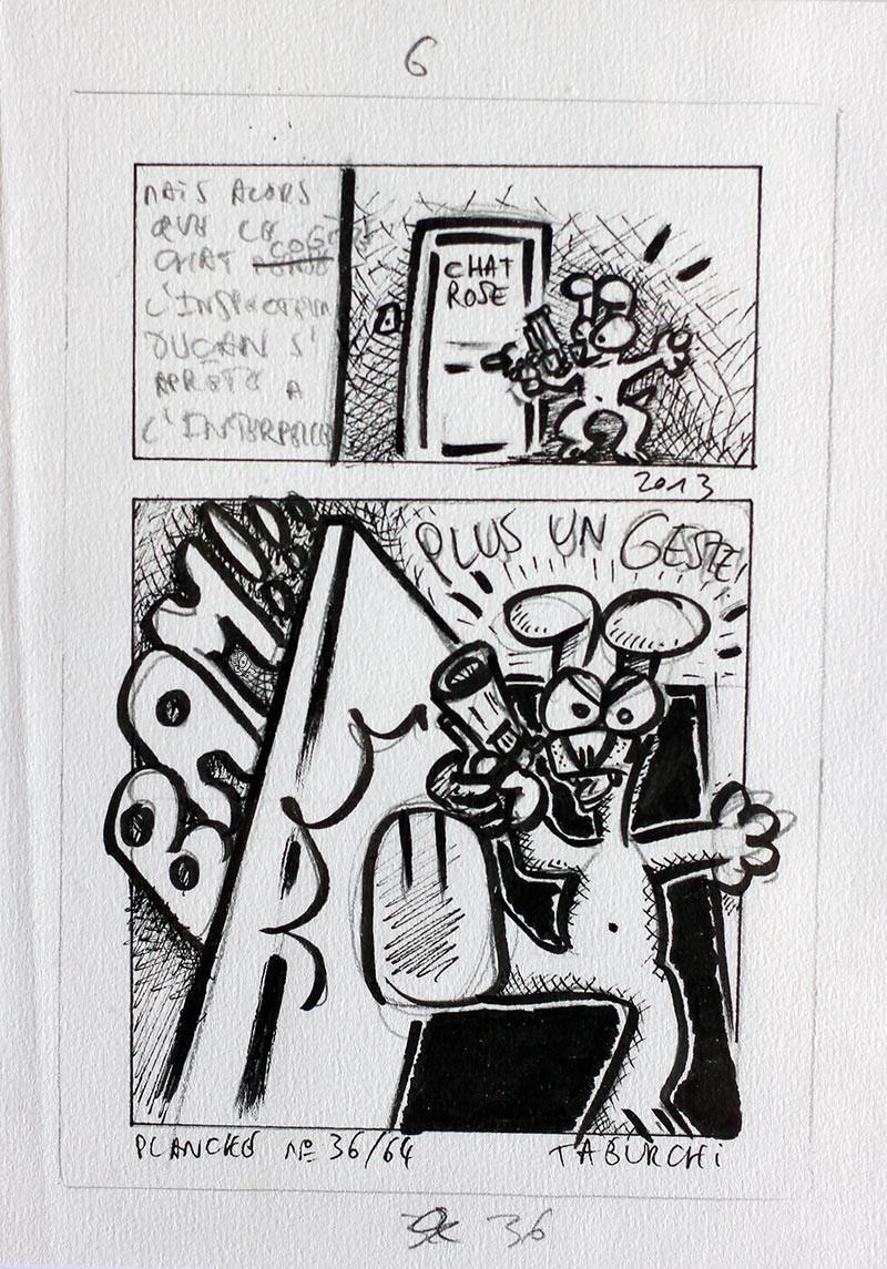 Planche Originale D Tude De La Bande Dessin E N 36 La Galerie D 39 Art De Taburchi