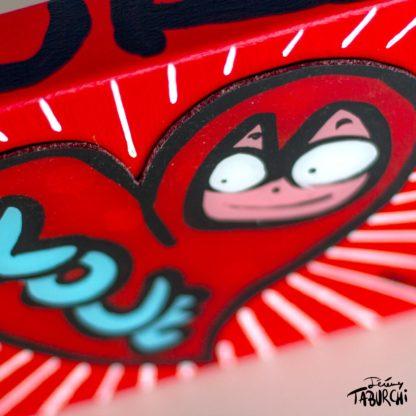 Chat Rose de Taburchi dans un coeur classique