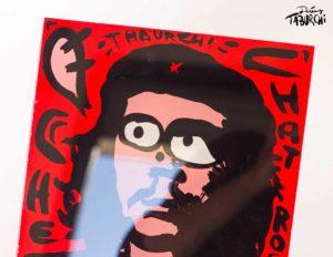 Un tableau du Chat Rose en Che Guevara