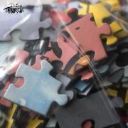 Puzzle le Chat Rose à la plage, par Taburchi