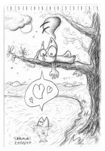 Les amours du Chat Rose et d'une truite
