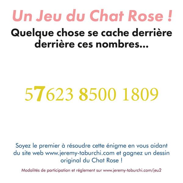 Un jeu du Chat Rose, l'énigme...