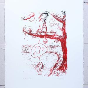 Épreuve d'artiste sérigraphie Zoophilia