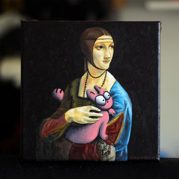 La Dame à l'hermine revisité par Jérémy Taburchi