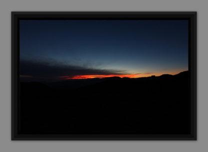 Nuit orangée, photo dans caisse américaine