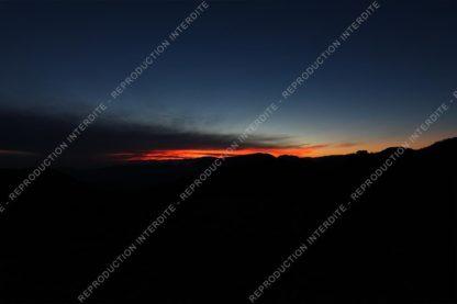 Nuit photo soleil couchant rougeoyant