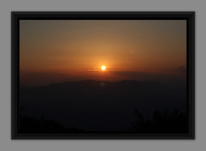 Sunset, picture in American box