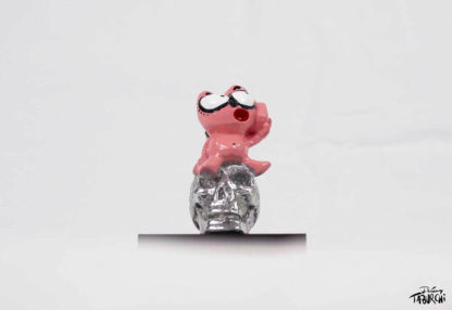 Sculpture du Chat Rose en aluminium