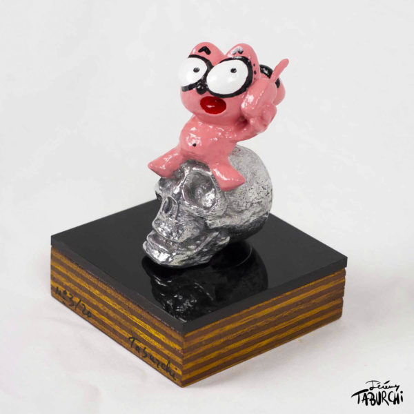 Sculpture du Chat Rose en aluminium