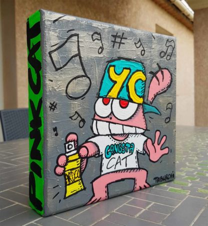 Le Chat Rose de Jérémy Taburchi se met au street-art façon jeune rappeur