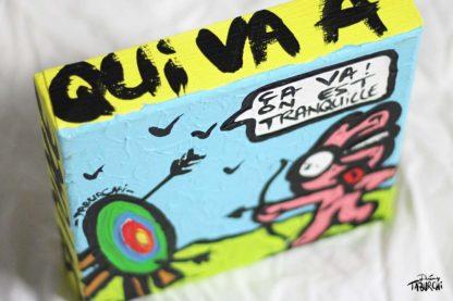 Peinture de Jérémy Taburchi sur le tir à l'arc