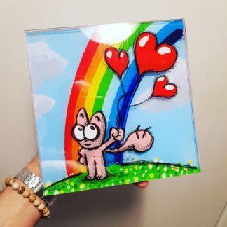Rainbow Chat Rose